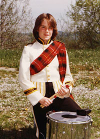 Toni as a freshman snare drummer
